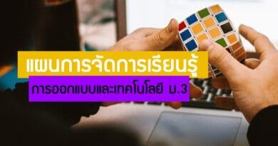 แผนการจัดการเรียนรู้ การออกแบบและเทคโนโลยี ม.3